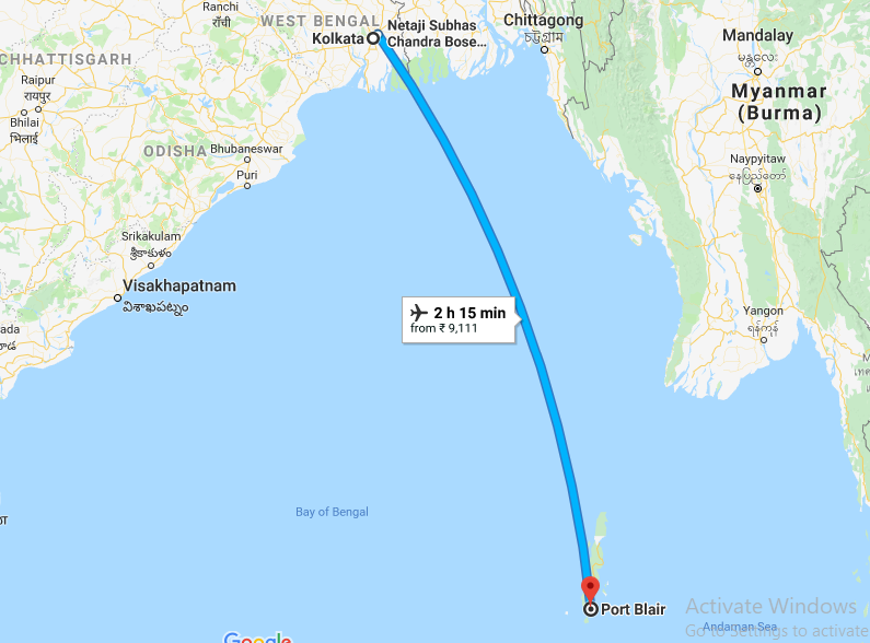 Kolkata to Port Balir